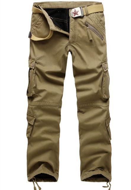 d6d5481d78539 Winter Double Layer Men s Classic Cargo Pants Warm Thick Baggy Pants Cotton  Trousers For Men Male