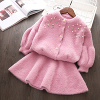 Toddler Autumn Winter Clothing set For Girl 2 3 4 5 Years Fashion Outfits Kids Christmas Birthday Cloths High quality Suit Wear