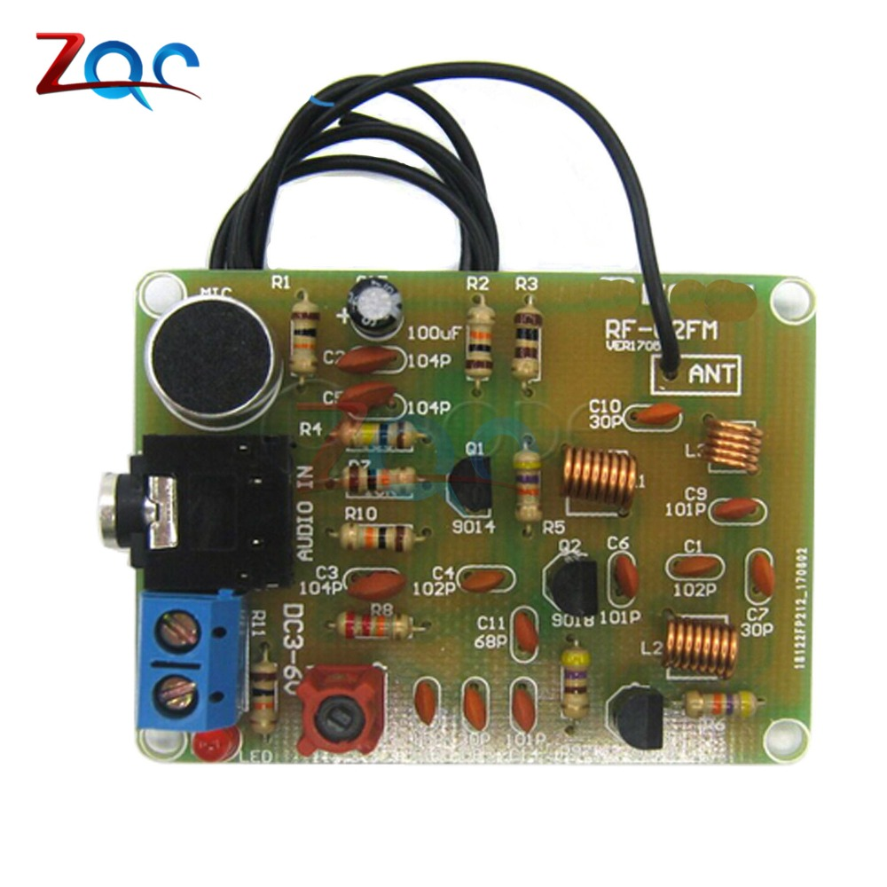 88 108mhz Fm Frequency Modulation Wireless Microphone Module Diy Superlinear Modulator Kits Transmitter Board Parts Dc 3 6v In Instrument
