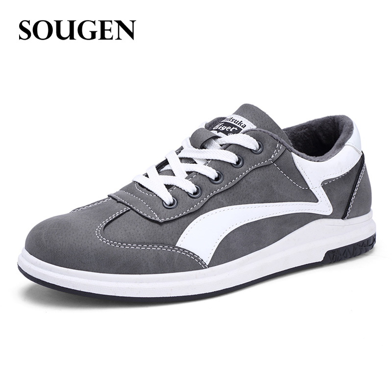 Krasovki Men Sport Shoe Footwear Male Walking Shoes Autumn Casual Pu Luxury Brand Mens Adult Men Fashion 2018 New Wth Fur 2017 spring autumn casual men s shoes basket femme chaussure tenis feminino male shoes sport krasovki trainers luxury presto
