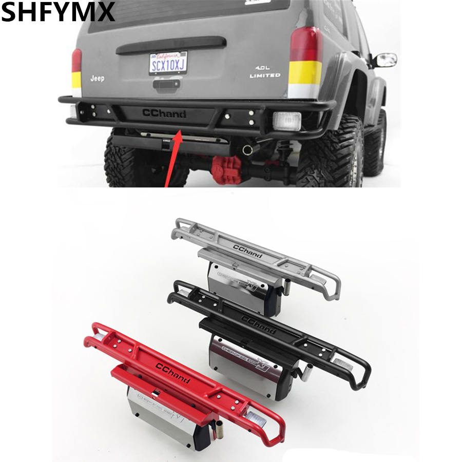 RC Car Metal Rear BUMPER Assembly For 1:10 RC Crawler Car AXIAL SCX10 II XJ 90046-90047 JEEP CHEROKEE TOYS Truck