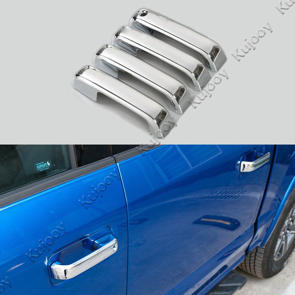 4x chrome silver door handle cover trim frame car styling accessories sticker for ford f150 2014