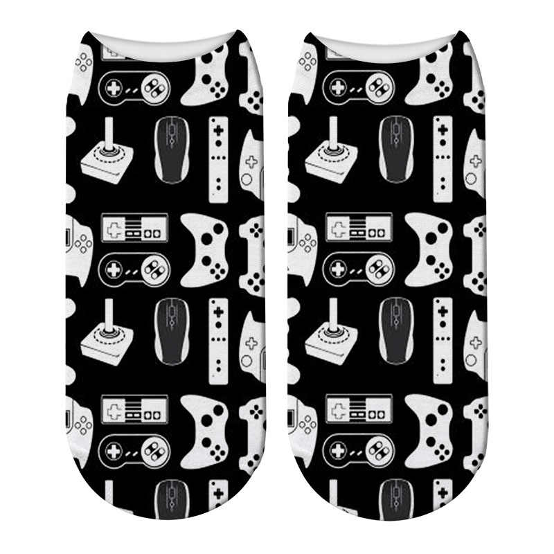 New 3D Printing Women Binary Code Socks Women Poker Card Music Pattern Socks