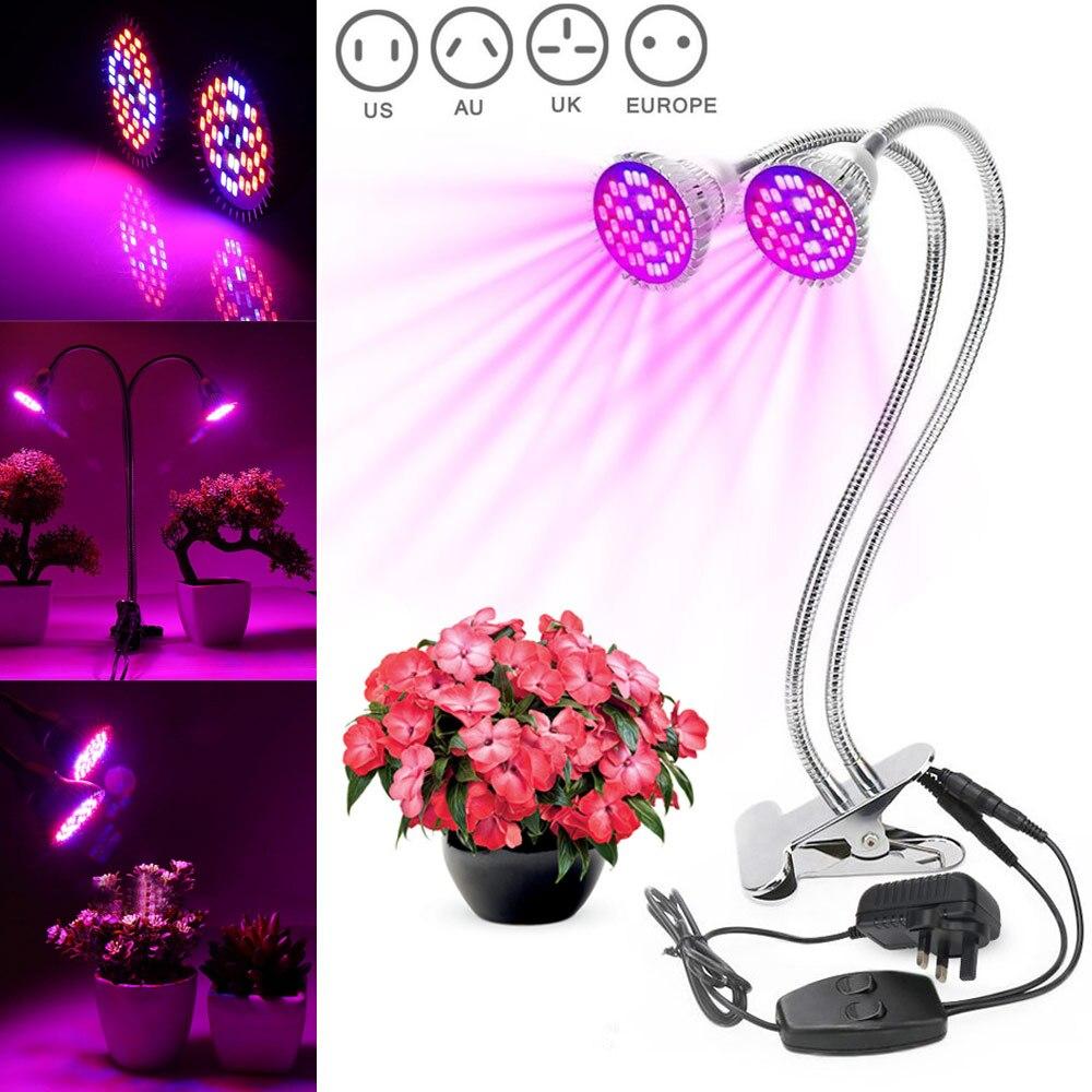 60W Dual Head LED Grow Lamp Light Desk Clip Flexible Gooseneck Full Spectrum for Indoor Plants 88 WWO6660W Dual Head LED Grow Lamp Light Desk Clip Flexible Gooseneck Full Spectrum for Indoor Plants 88 WWO66