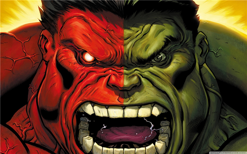 Delicieux Free Shipping Custom Poster Nice Bedroom Decor Fashion Wall Sticker Well  Design Red Hulk VS Green Hulk Wallpaper #0431 In Wall Stickers From Home U0026  Garden ...