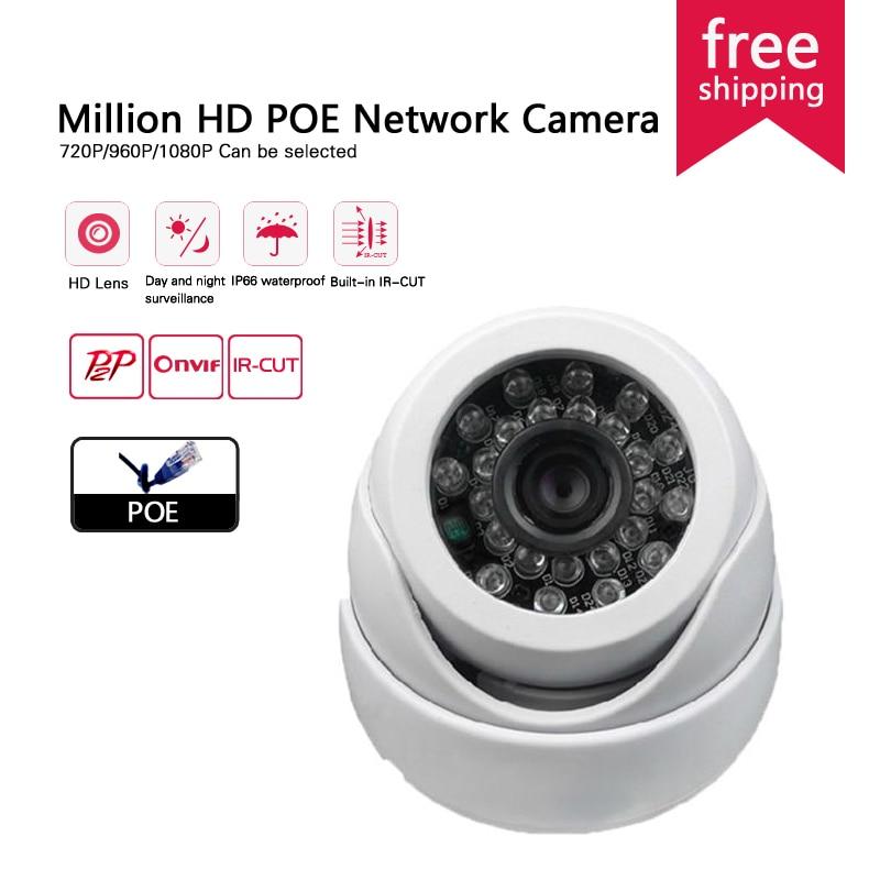 ФОТО HD IP Camera POE Indoor 720p/960/1080P ONVIF2.0 Dome Night Vision CCTV Surveillance Camera Home Security Wireless Camera Systemv