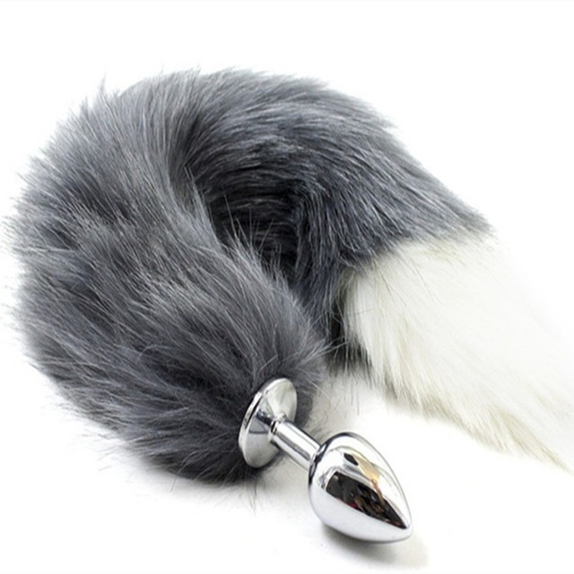 Anal Sex Toys Tails - Fun Flirting Toys Fox Tail Anal Plug In Adult Games For Female , Metal Anus  Plug