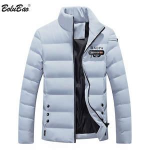 2ead9b785d5 BOLUBAO Winter Jacket Zipper Thick Coat Men Down Parka