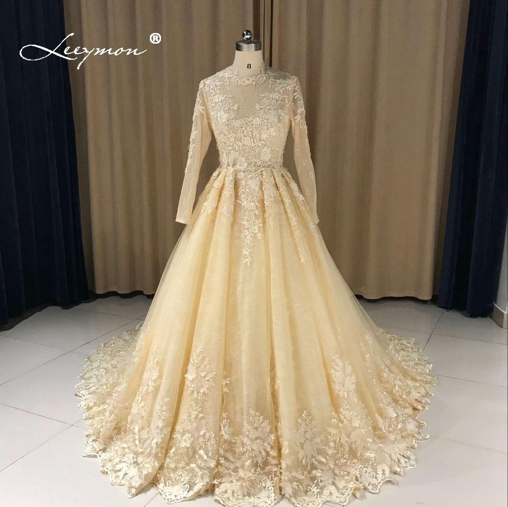 Robe de mariée à manches longues