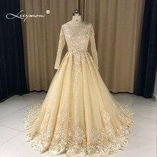 Leeymon Long Sleeves Vintage Lace Wedding Dress 2017 Romantic Gown Robe de Mariee LY7284