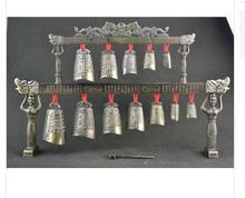 Exquisito Chino Antiguo de Colección Decoración de Cobre Instrumento Musical Clásica decoración De la Campana tiendas de fábrica de bronce