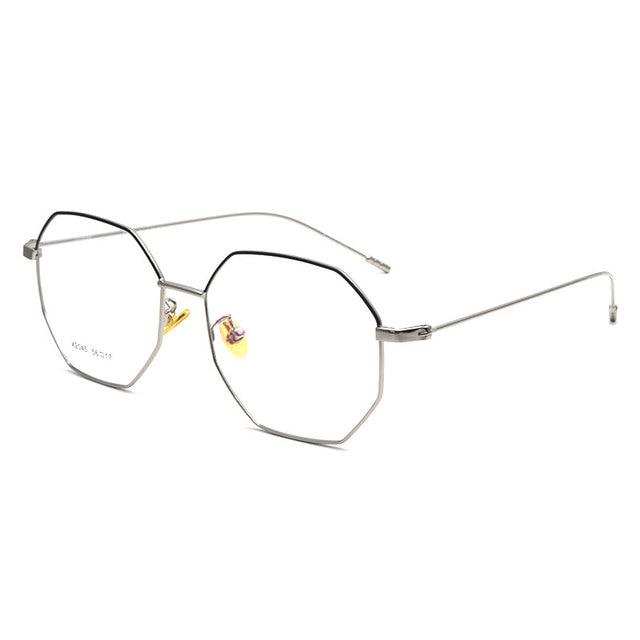 6cb26831e4 Vintage Style Women Men Popular Round Metal Clear Lens Glasses Frame Trendy  Unisex Nerd Spectacles Eyeglass Frame X2045