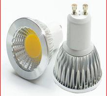 Lâmpada regulável de led super brilhante, holofote gu10light led 110v 220v ac 6w 9w 12w gu10 cob lâmpada led gu 10 led