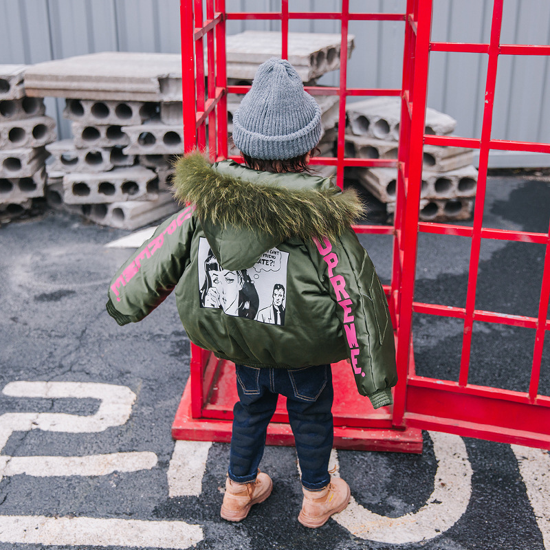 Boys cotton childrens fur collar 2018 new winter clothes boys new cotton jacket male baby short cotton clothes jacketBoys cotton childrens fur collar 2018 new winter clothes boys new cotton jacket male baby short cotton clothes jacket