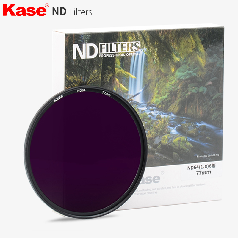 Kase 40.5/43/49/52/55/58/67/72/77/82mm Slim Muti-Coated ND Filter ND3.0 ND1000 1000x Neutral Density Lens Filter Optical Glass nisi obscuration nd2000 67 72 77 82mm ultra thin neutral density nd4 0 gray mirror filter lens pen