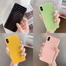 New Craft Strip Khaki phone case For iphone XS MAX XR X 6 6s 7 8plus Fashion Soft shell capa Back cover Shell