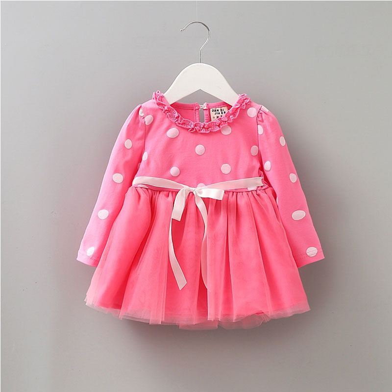 319a54cc23ee 2017 Spring girl baby clothes cute dot tutu net dress for infant ...