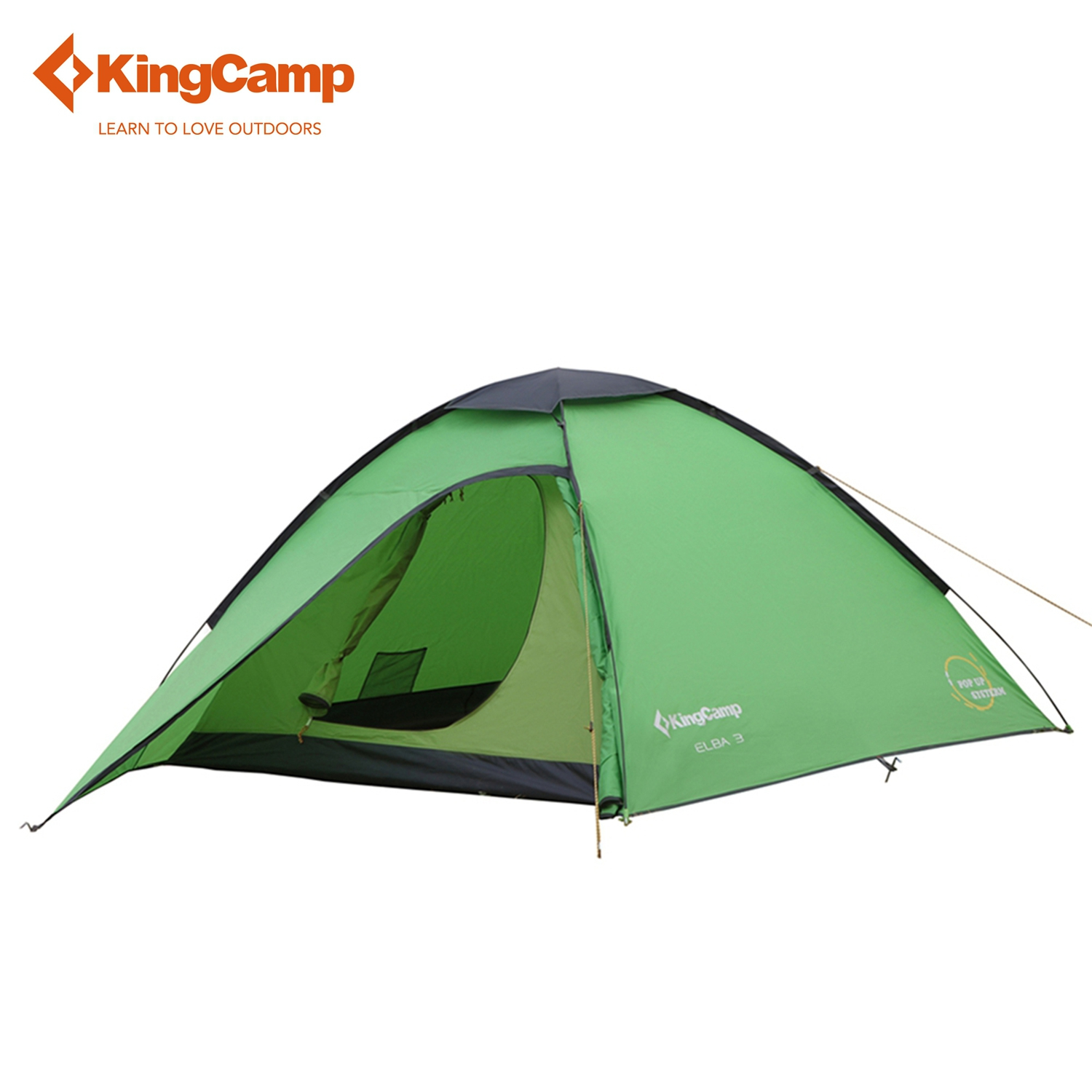 KingCamp ELBA 3-Person 3-Season Outdoor Portable Lightweight Instant Dome Pop up tent With Carry Bag for Camping Backpacking