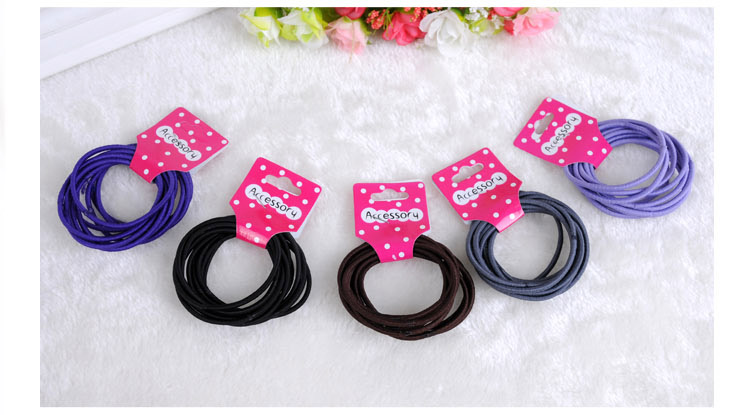 30pcs/lot Children Hairband Solid Cloth Hairband Rope Ponytail Holder Elastic Hair Band Ties Braids BHW-017 Baby Girl Clothes