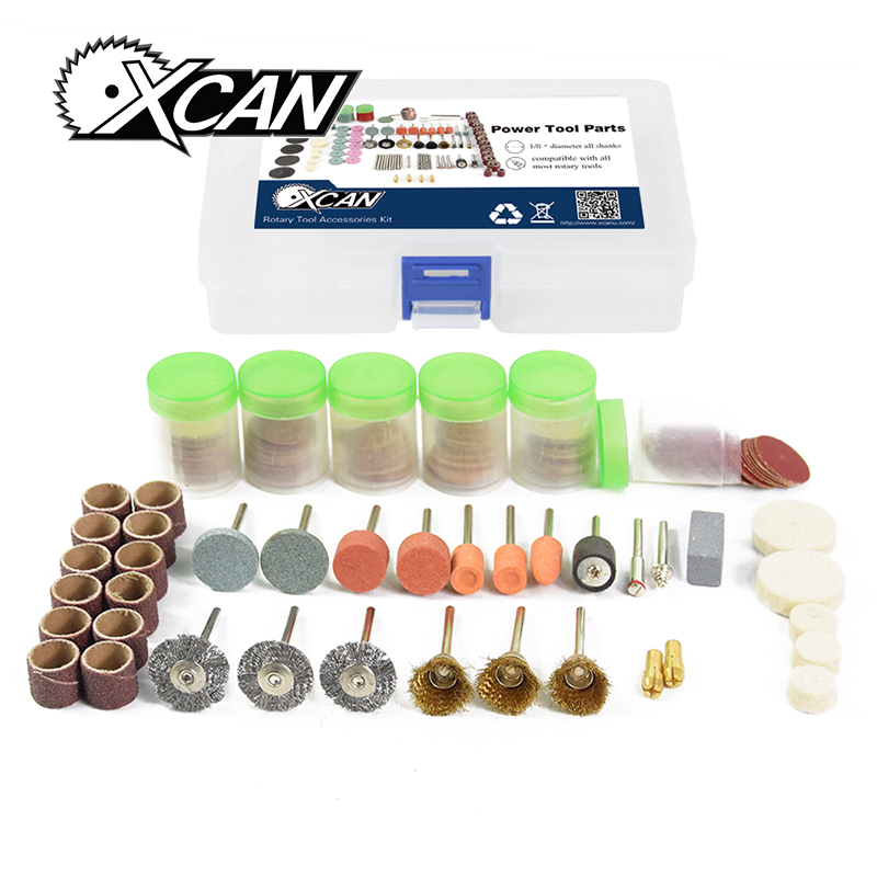 XCAN 217 Dremel Rotary tools Accessories Kit for metal/wood working polishing grinding mx demel high quality 17pcs 1 2 felt polishing wheels dremel accessories fits for dremel rotary tools dremel tools small