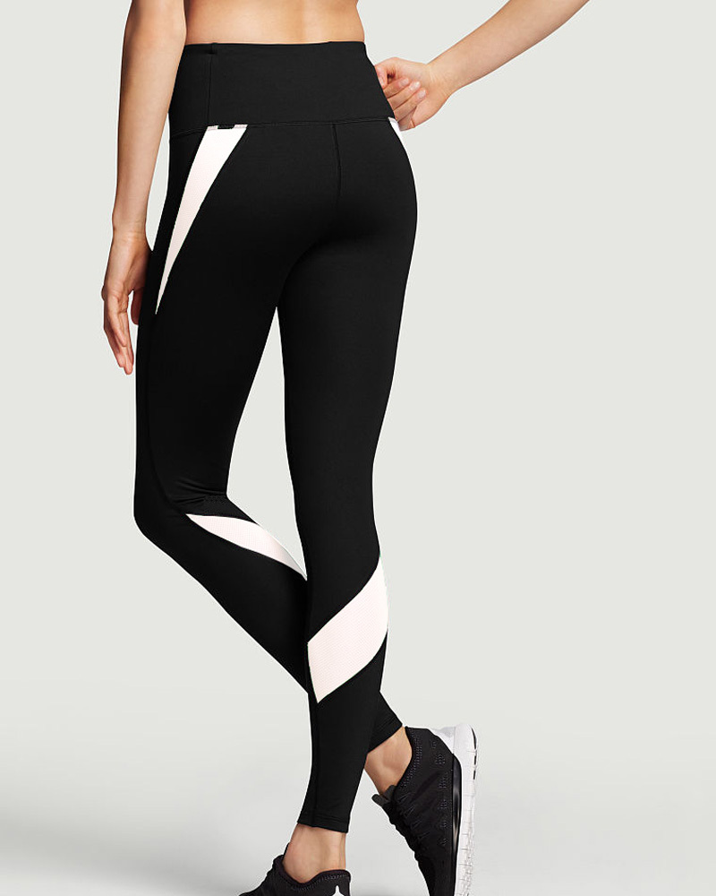 Black And White Workout Leggings - The Else