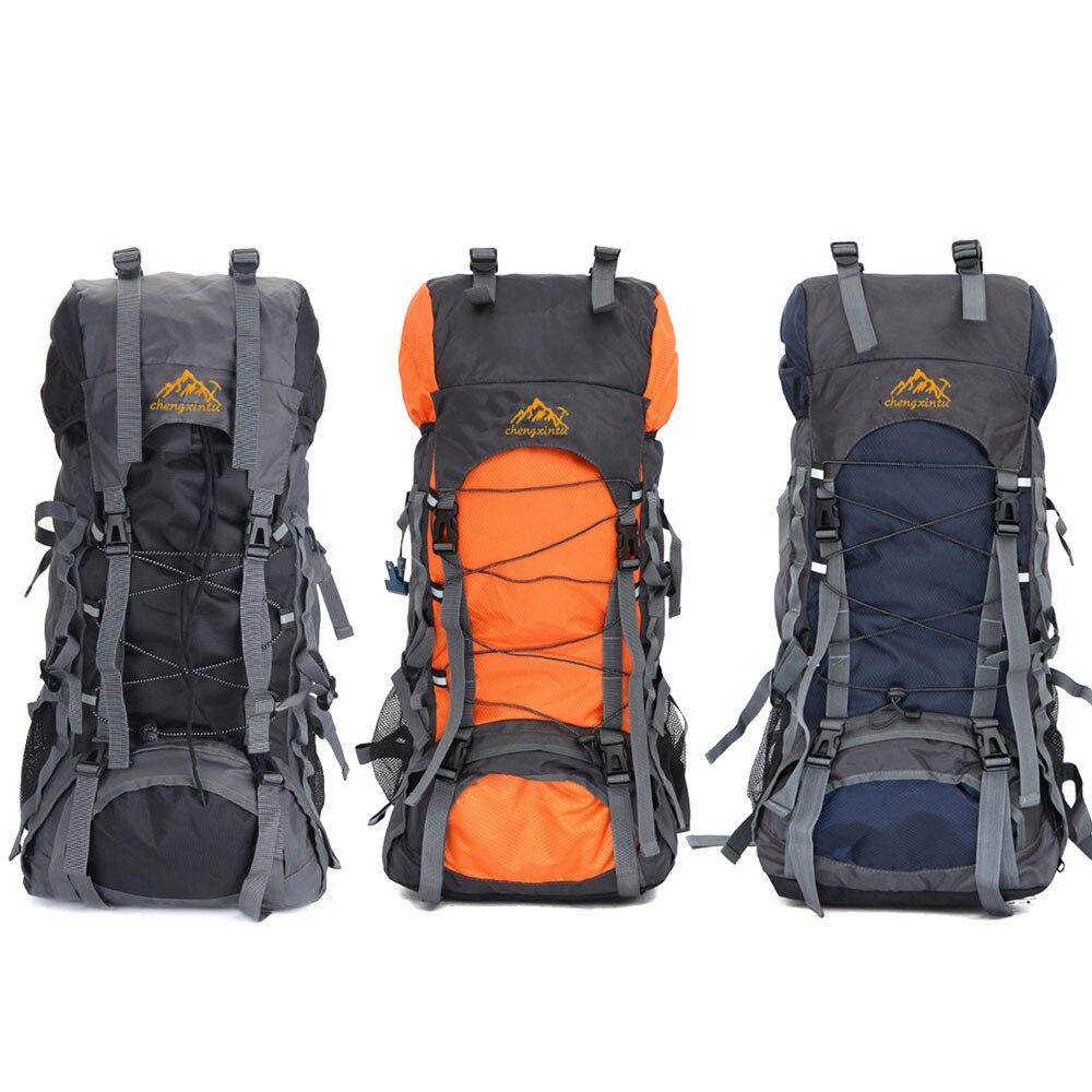 d970c5dbabaa 55L Outdoor Bicycle Backpack Hiking Camping Unisex Trekking Bag Travel  Waterproof Rucksack Mountaineering Bags Knapsack