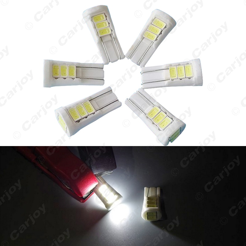 4pcs Super White 194 168 W5W T10 Ceramic 5730 8SMD 2W Wedge Side License Plate Light Lamp DC12V #CA4577