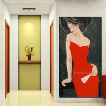 New arrival unique gift modern oil painting on canvas 100% hand painted elegant women decorative pictures for living room