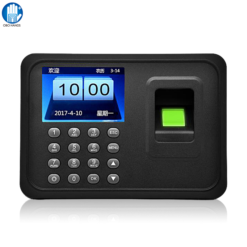Biometric Fingerprint Attendance Machine Fingerprint Lock System With Free Software USB Download For Office Employee Time Clock(China)