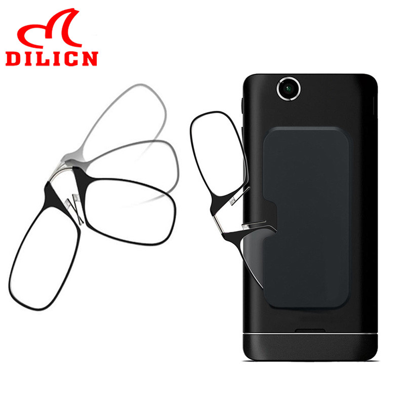 Portable SOS Wallet Reader Mini Reading Glasses With Case Universal Pod Reading Glasses Diopter +1.5 2.0 2.5