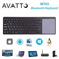 2017 avatto mt04 bluetooth wireless keyboard air mouse con el touchpad para tablet, escritorio, Smart TV, Android TV Box, PC