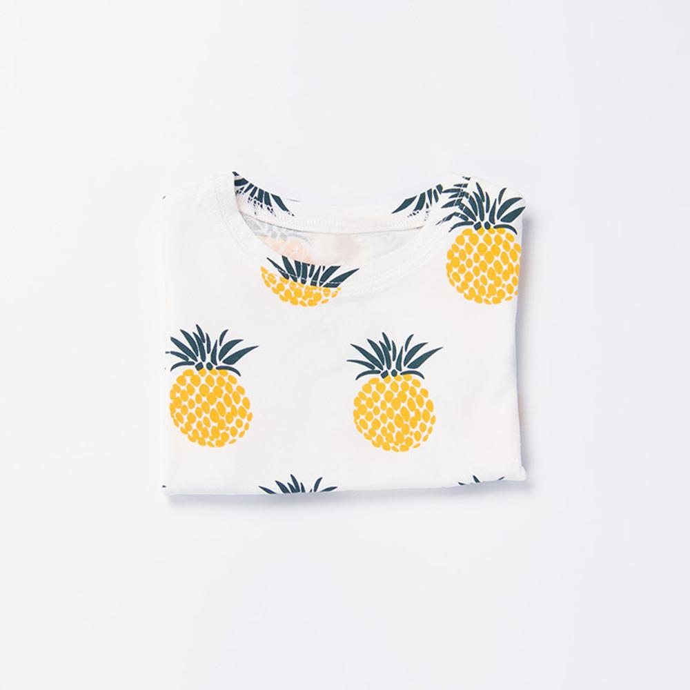 Baby Girl Boy Clothes T-shirts Soft Cotton Toddler  Cartoon Pineapple Print T-shirt Tops Breathable Children Kids Tops New 2019(China)