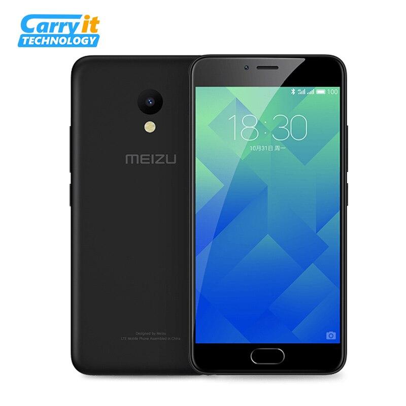Original Meizu M5 Mobile Phone Global ROM OTA 3GB 32GB MT6750 Octa Core 5.2 1280x720 13.0MP Cellular Fingerprint M611H M611A