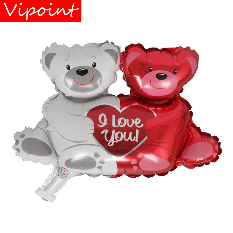 VIPOINT PARTY 45cm red silver bear foil balloons wedding event christmas halloween festival birthday party HY-153