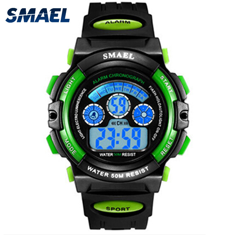 Digital Watch For Kids SMAEL New Child Boy Watch Gift Sports Watch Alarm Clock 50M Waterproof Girl 0508 LED Digital Wristwatches