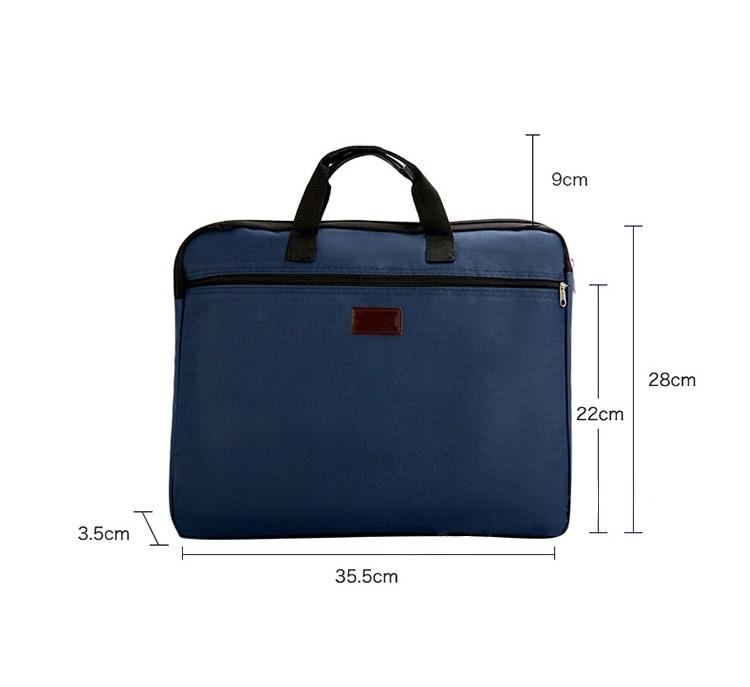 HTB1 l4VXQ9E3KVjSZFrq6y0UVXam Portable document bag canvas A4 office zipper bag large capacity men women handbag multi-layer information bag briefcase meeting