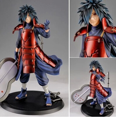 NARUTO PVC Action Figure Uchiha Madara Figure Toys Juguetes 17CM Japanese Anime Naruto Uchiha Madara Model Toy Doll N11 anime one piece dracula mihawk model garage kit pvc action figure classic collection toy doll