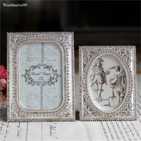 5inch 6inch Rhinestone Crystal Wedding Photo Frames Metal Alloy Picture Frame Bridal Favor Gifts Home Decor
