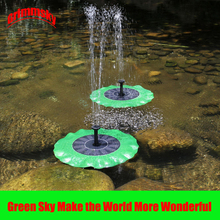 Max Spray Height 70CM Floating Lotus Flower Leaf Pool Pond Outdoor Solar Panel Home Garden Decoration Powered Fountain