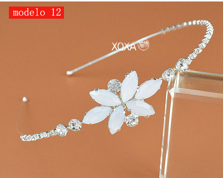 Moda feminina strass cristal cabeca bandagem no cabeca coroa Tiara de noiva de cabelo acessorios (2)