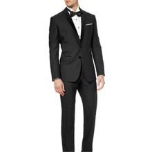 new Men's suits, Custom-made Black Groom Tuxedos Notch Lapel Best Man Suits (Jacket+Pants+Tie)men slim suit high quality