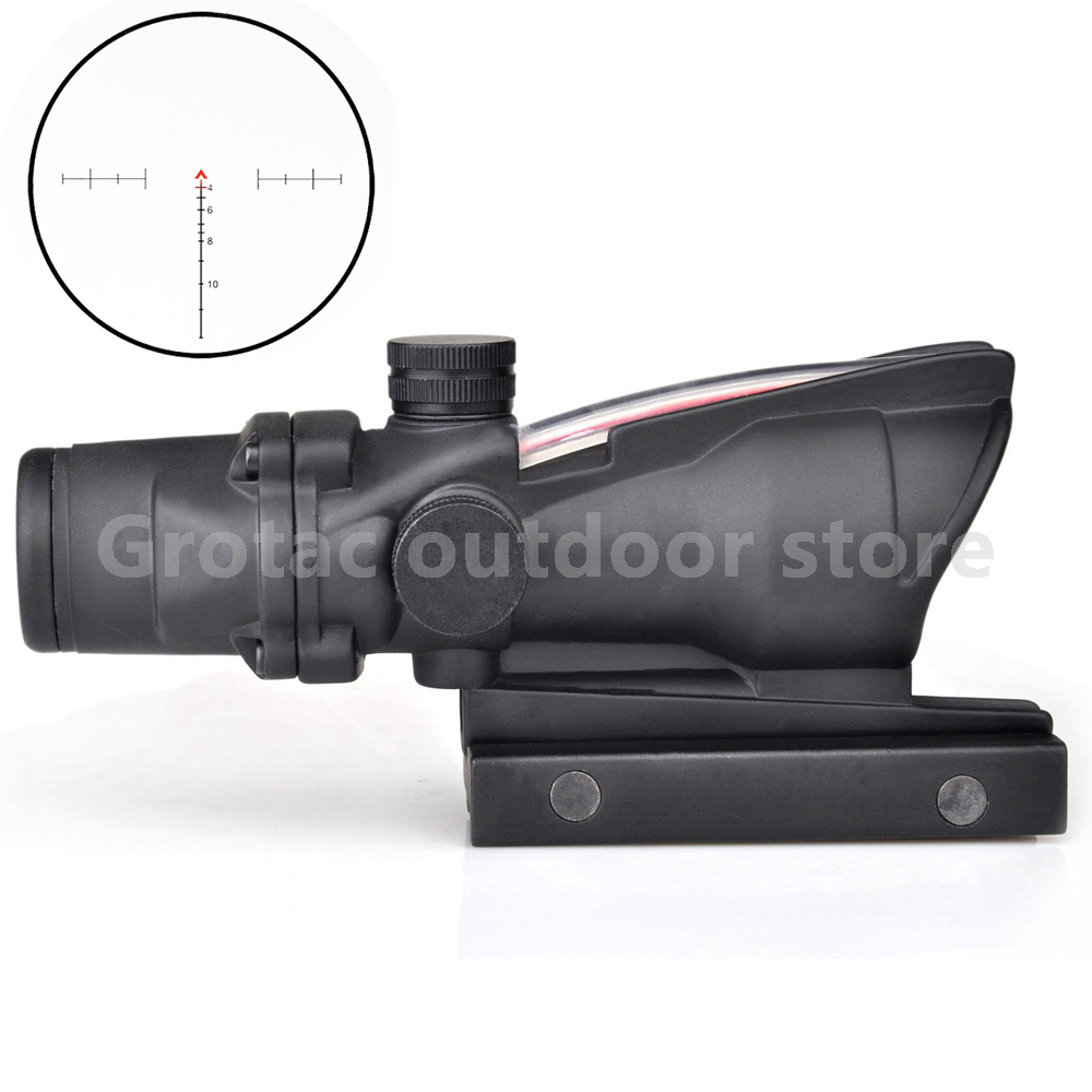 Здесь продается  New 4x32 Acog Riflescope 20mm Dovetail Reflex Optics Scope Tactical Sight Rifle w/ Tri-Illuminated Chevron Recticle Fiber Source  Спорт и развлечения