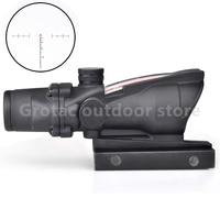 New 4x32 Acog Riflescope 20mm Dovetail Reflex Optics Scope Tactical Sight Rifle W Tri Illuminated Chevron