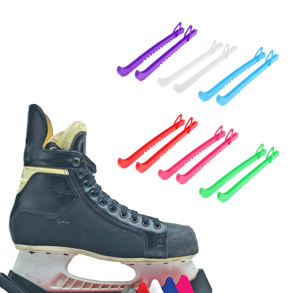 1 Pair 34.5cm Ice Hockey Skate Blade Guards Adjustable Strap Cover Accessories Multi Colors For Choose