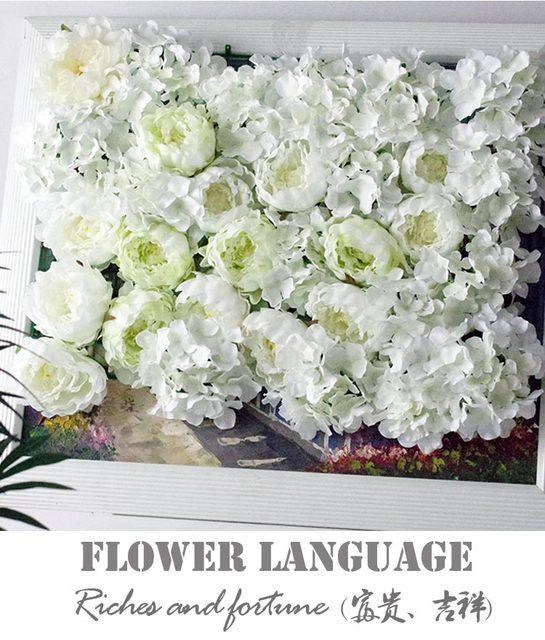 10pcslot 40cm60cm artificial silk white peonies with hydrangea 10pcslot 40cm60cm artificial silk white peonies with hydrangea flower wall wedding decoration mightylinksfo