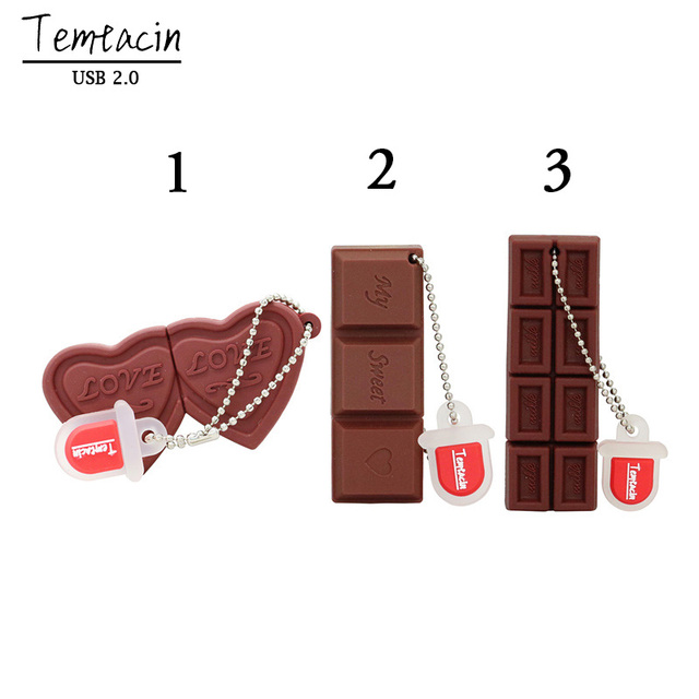 USB Drive Flash Chocolate Cartoon Sweet USB Flash Drive 4GB 8GB 16GB 32GB 64GB USB 2.0 Flash Memory Stick Flash Drive PenDrive