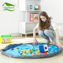 150CM Portable Kids Toy Storage Bag Play Mat Toys Storage Organizer Large Bin Box Fashion Practical