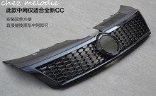 لامعة/مات الأسود رسمت نمط قنبلة العسل ABS سباق جسم السيارة الجبهة شواء لفولكس واجن CC 2013 2018 ، استبدال نوع