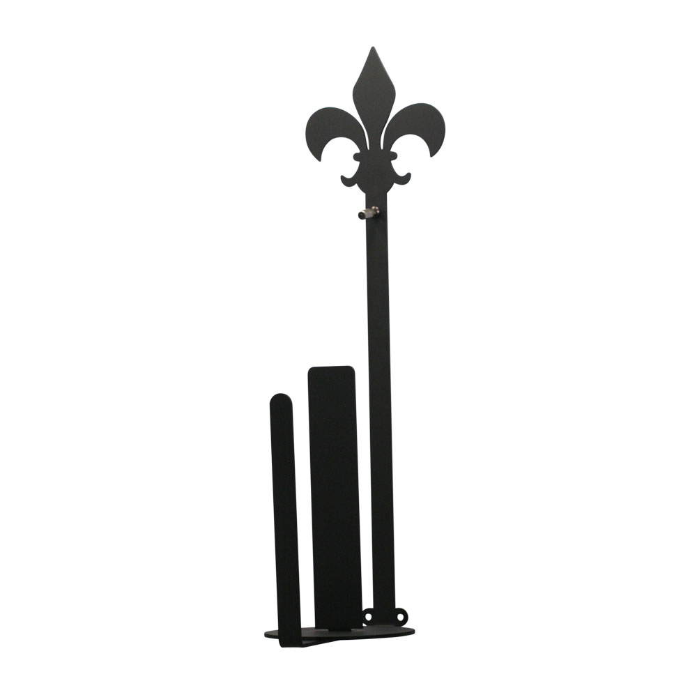 Village Wrought Iron Fleur-de-lis - Paper Towel Holder Holder Wall Mount