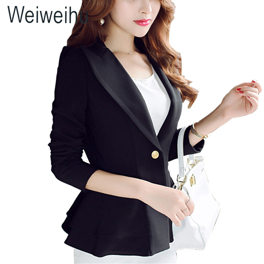 Blue Black Jackets Suit Coats Slim Fit Blazer Women Formal Jackets Office Work Notched Ladies Blazer Coat Feminino Abrigo Mujer Comfortable Feel Suits & Sets Back To Search Resultswomen's Clothing